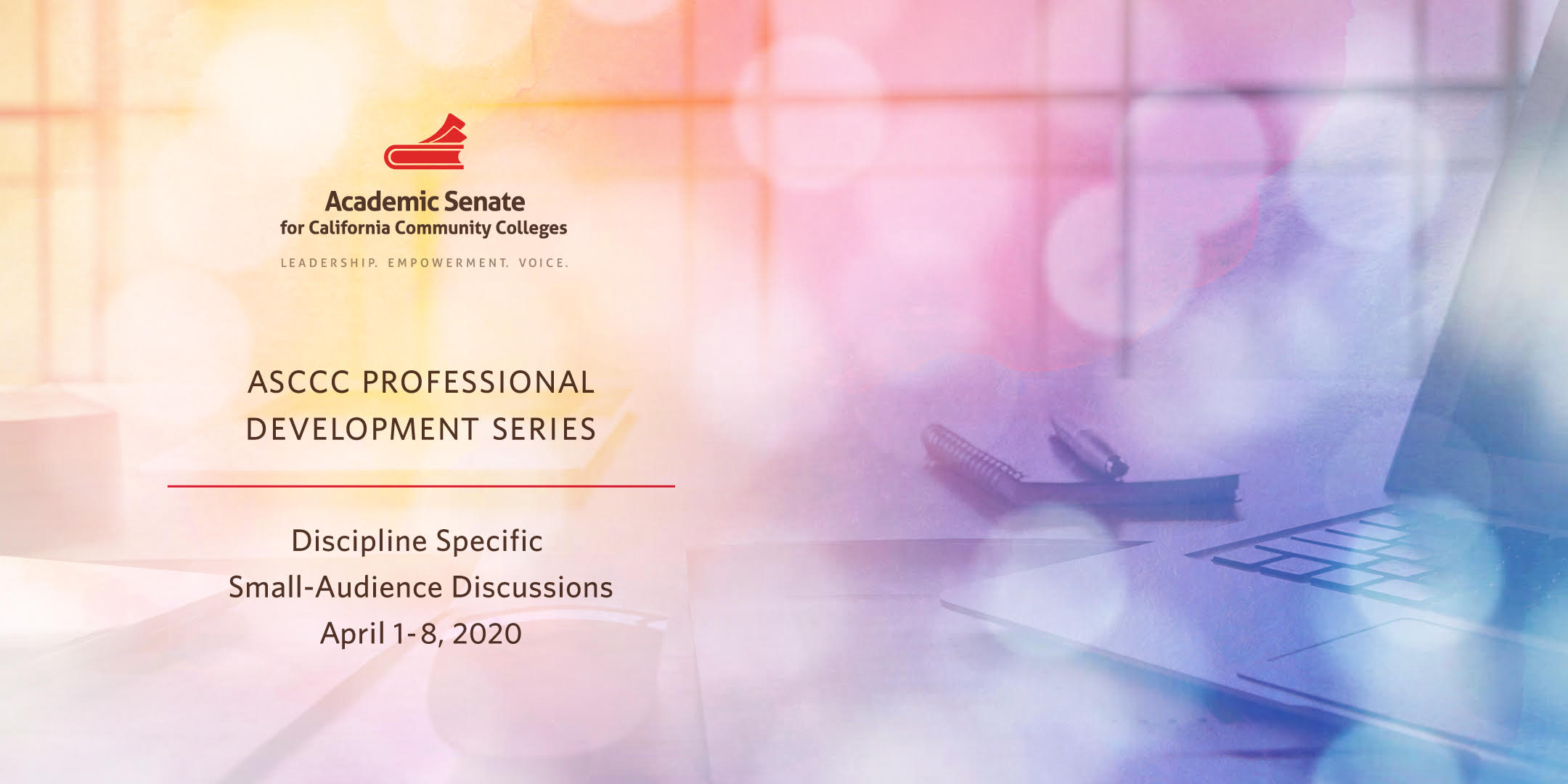 ASCCC Professional Development Series Banner Image