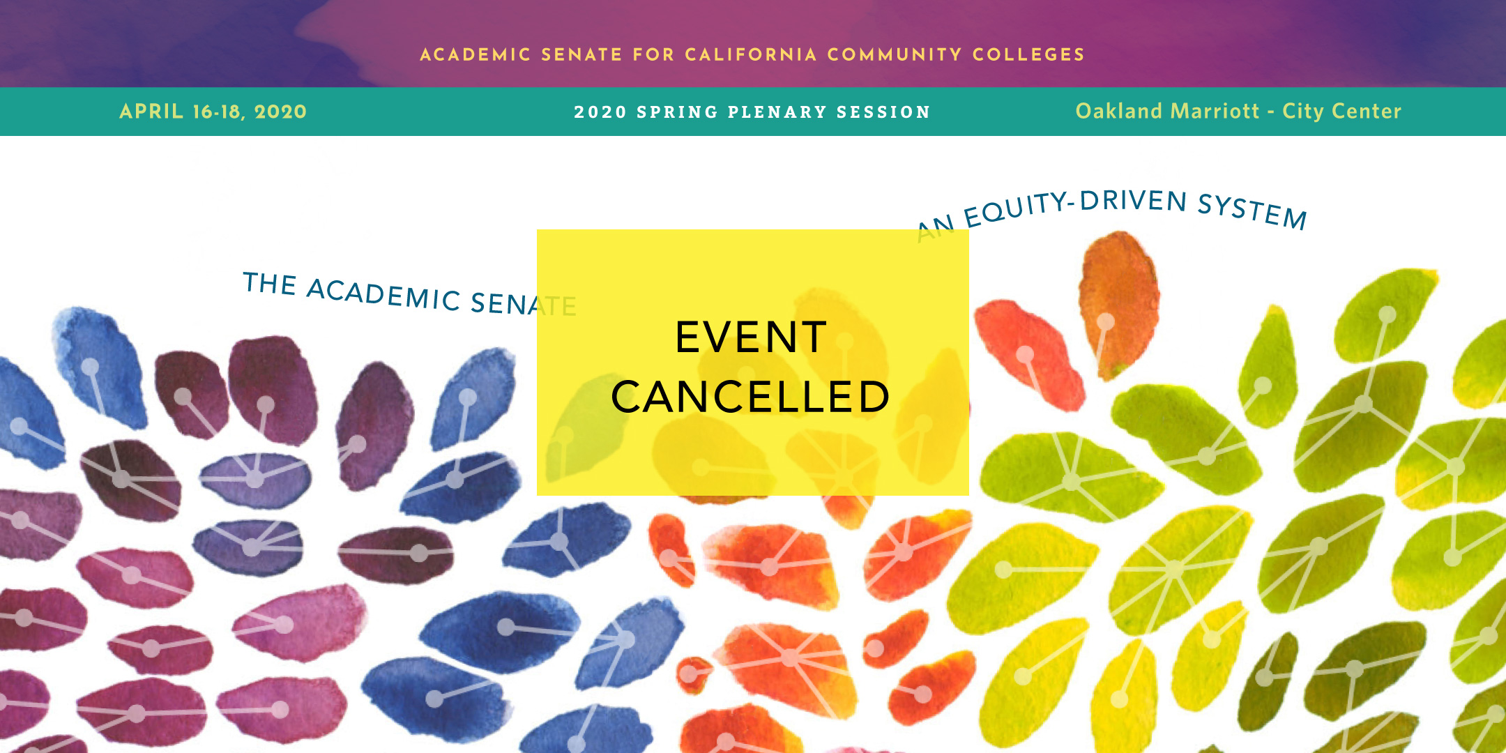 Spring Plenary Session 2020 header- cancelled