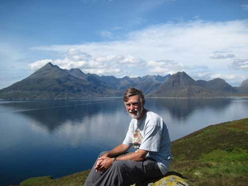 Ian on the Isle of Skye, Scotland in 2011